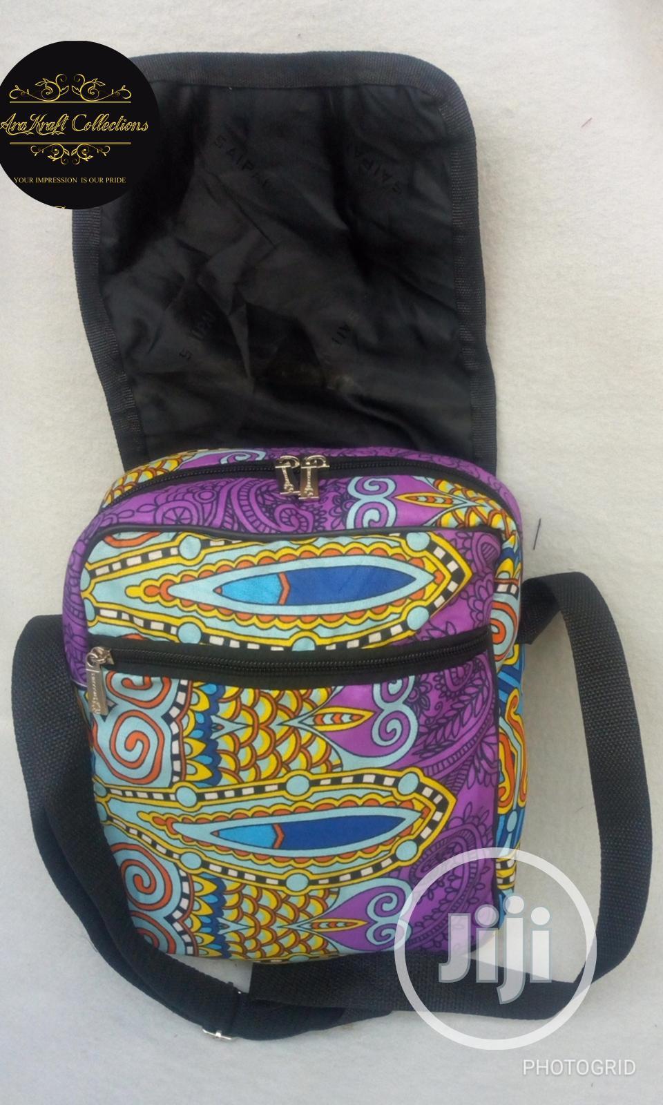 Unisex Ankara Cross Bag | Bags for sale in Ipaja, Lagos State, Nigeria