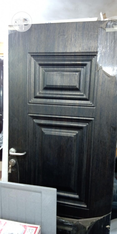 """Turkey Panel Steel Door 3ft""""-750"""". Brown, Black & White"""