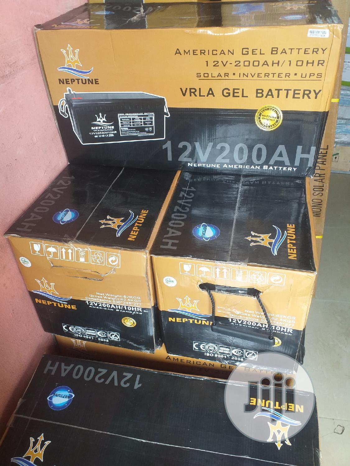 12V 200ah Neptune Gel Battery
