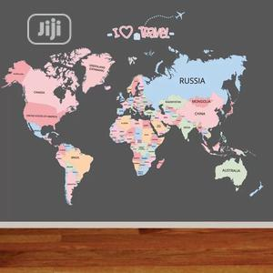 World Map Wall Sticker | Home Accessories for sale in Lagos State, Magodo