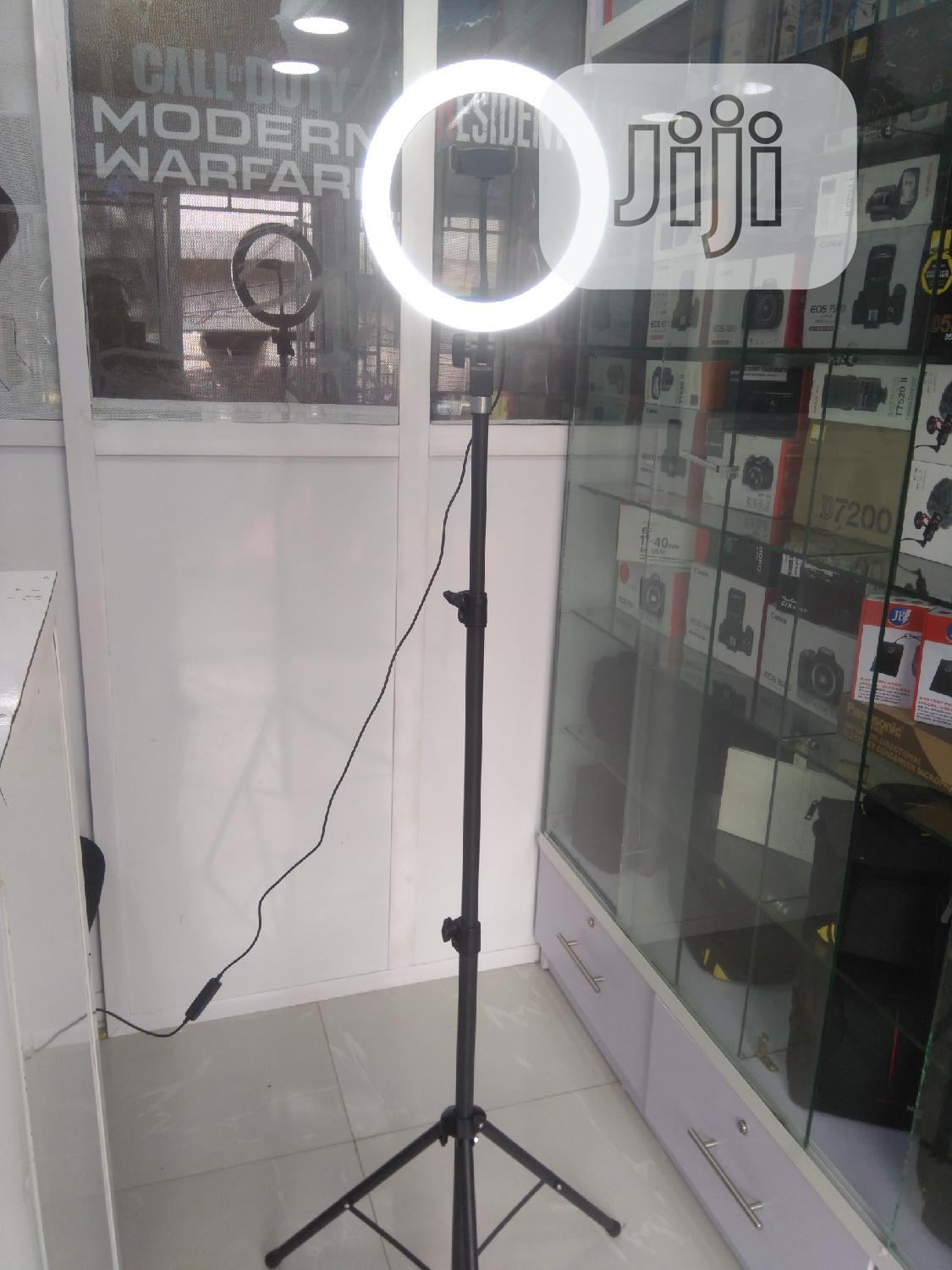 """LED Ring Light 10"""" With Stand And Phone Holder"""