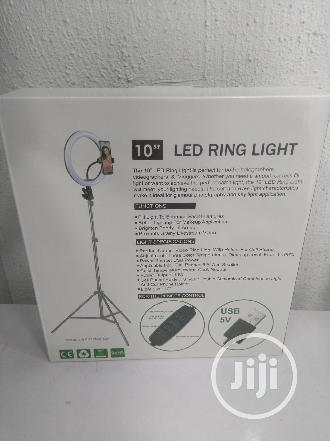 """LED Ring Light 10"""" With Stand And Phone Holder   Accessories & Supplies for Electronics for sale in Ikeja, Lagos State, Nigeria"""
