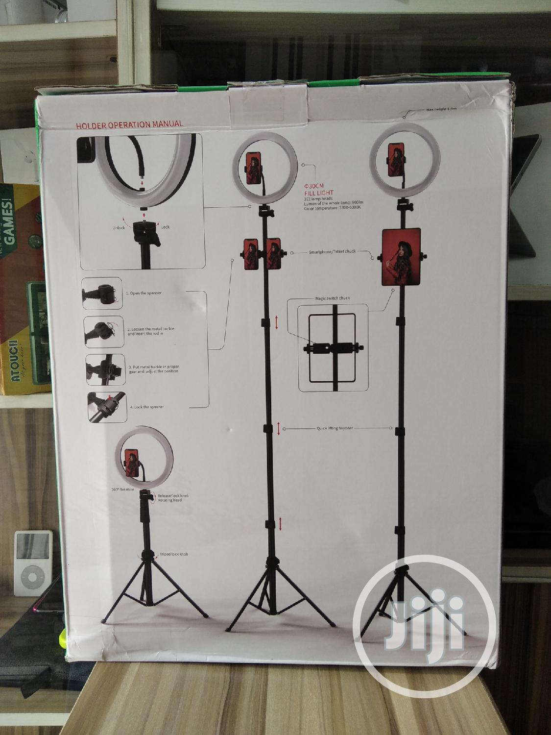 3 Devices Ring Light With Tripod