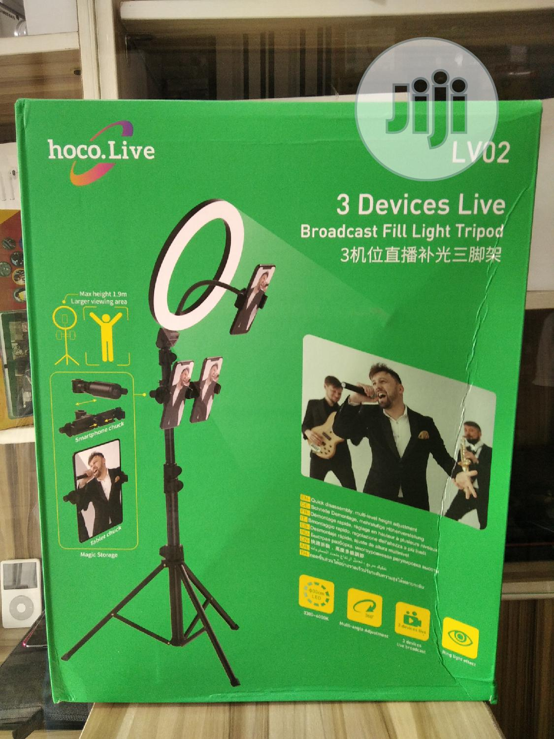 3 Devices Ring Light With Tripod | Accessories for Mobile Phones & Tablets for sale in Ikeja, Lagos State, Nigeria