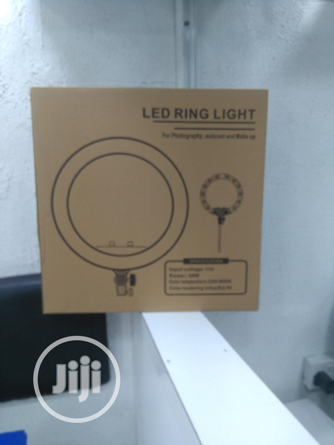 """LED Ring Light 18"""" With Remote, 3 Phone Clips & Stand"""