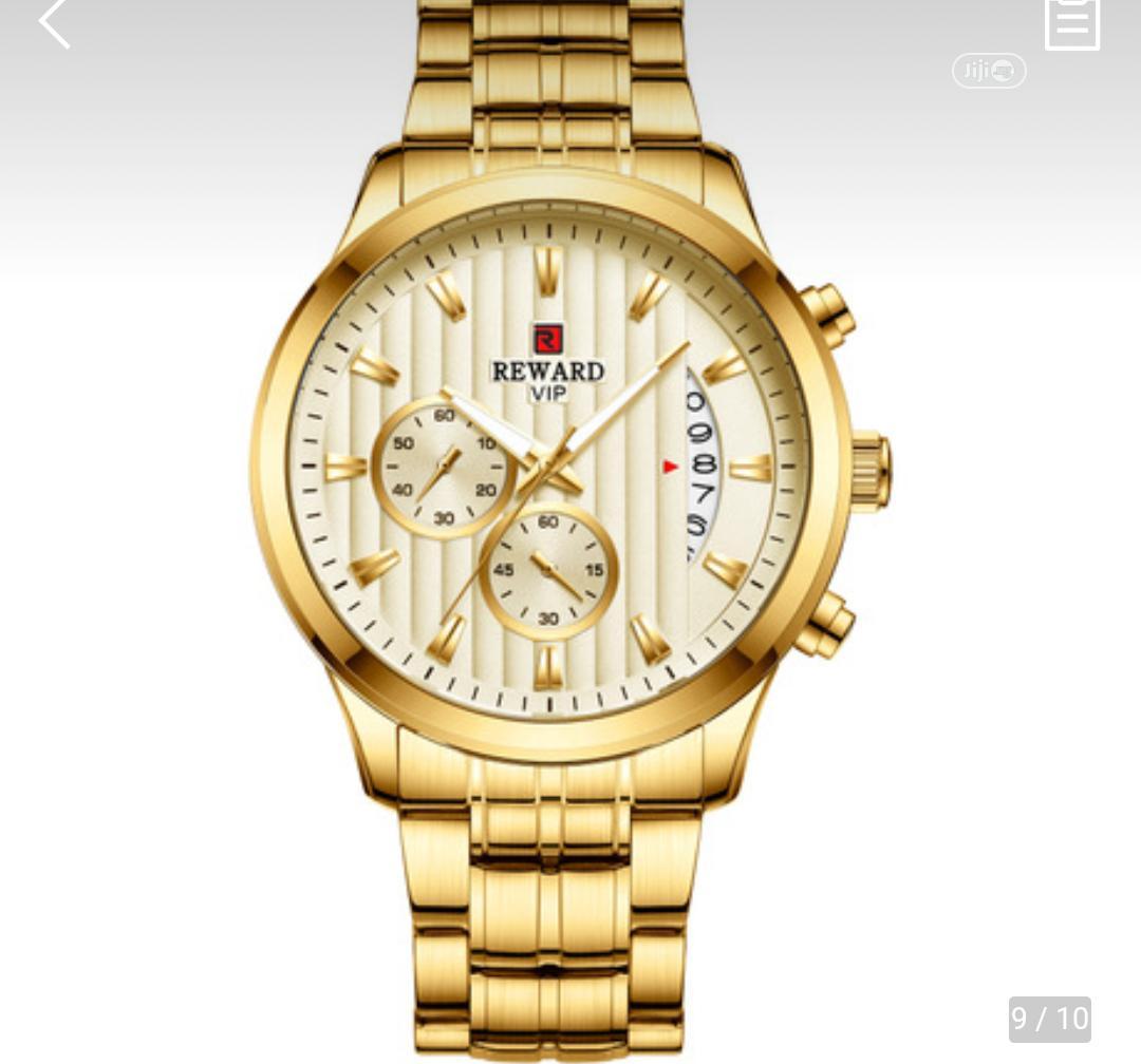Reward Designer Watch Gold And Black