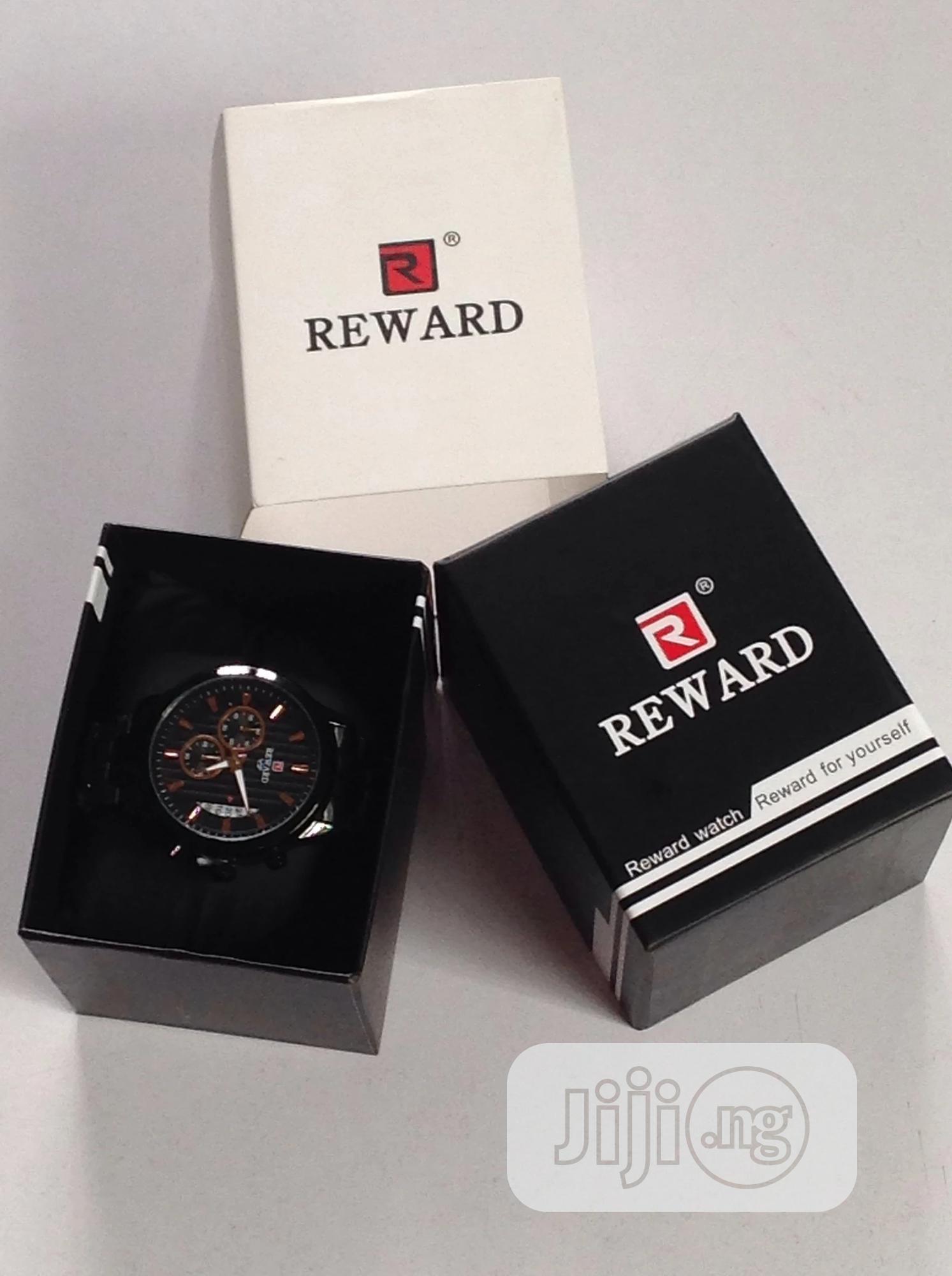 Reward Designer Watch Gold And Black | Watches for sale in Amuwo-Odofin, Lagos State, Nigeria