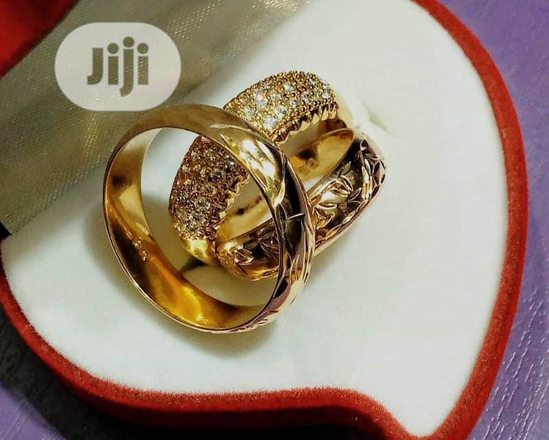 Original Bruna Gold 3 Set Patterned Wedding Rings