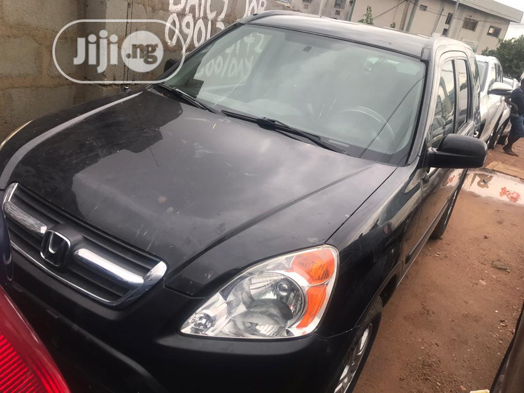Honda CR-V EX 4WD Automatic 2003 Black | Cars for sale in Ikeja, Lagos State, Nigeria