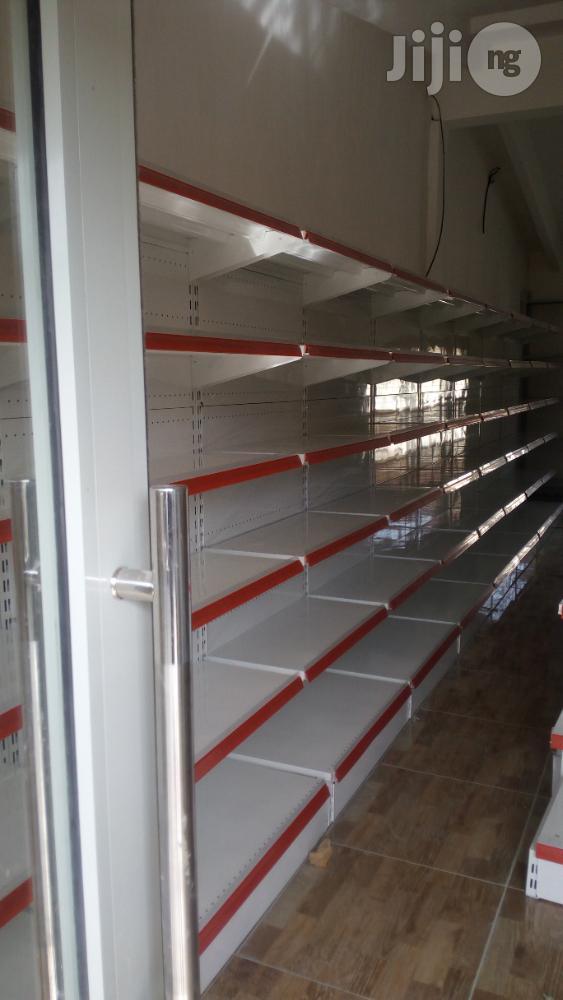 Archive: Steel Supermarket Display Shelve Single Sided
