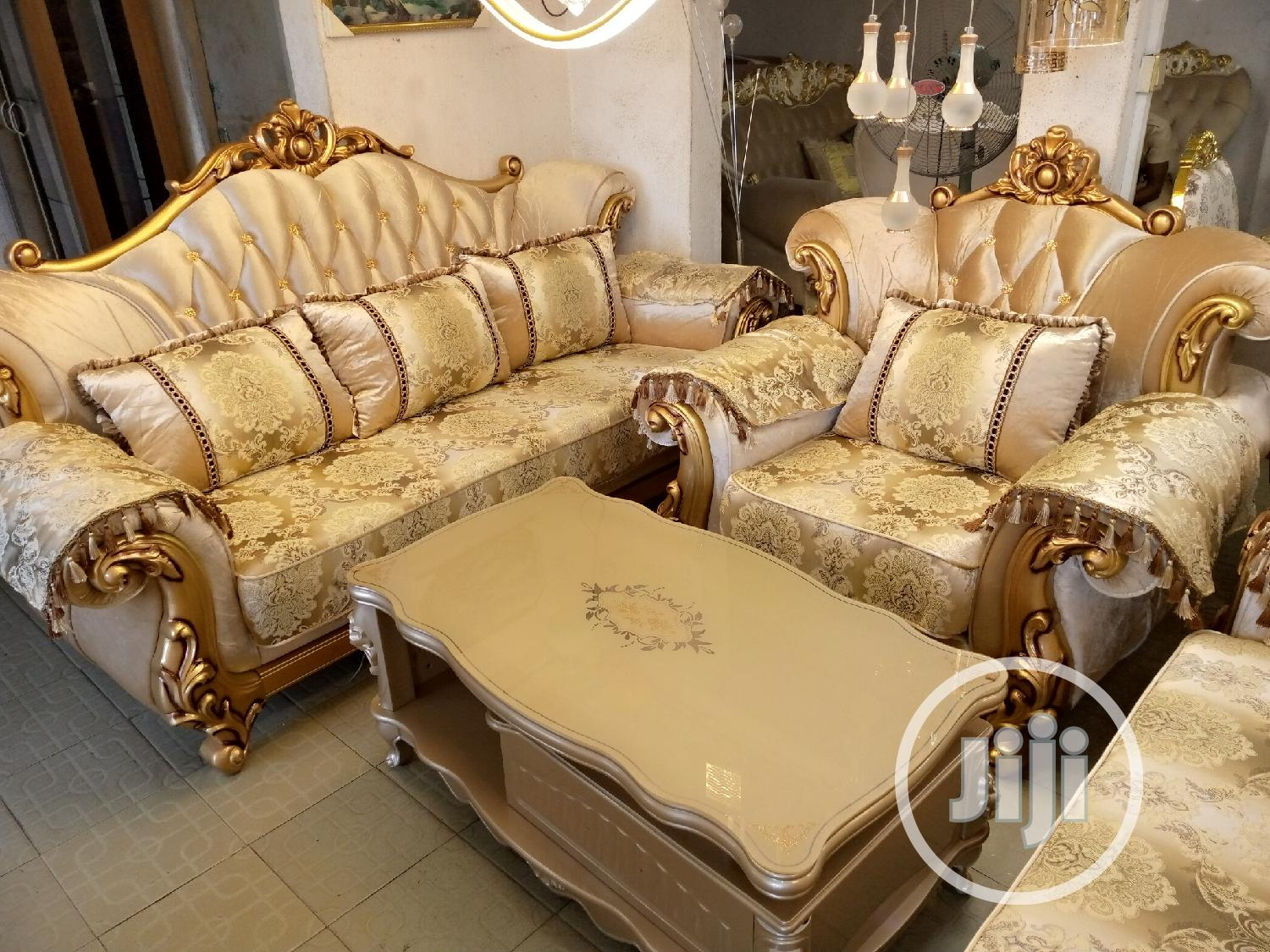 Complete Italian Royal Gold Sofa | Furniture for sale in Ikeja, Lagos State, Nigeria
