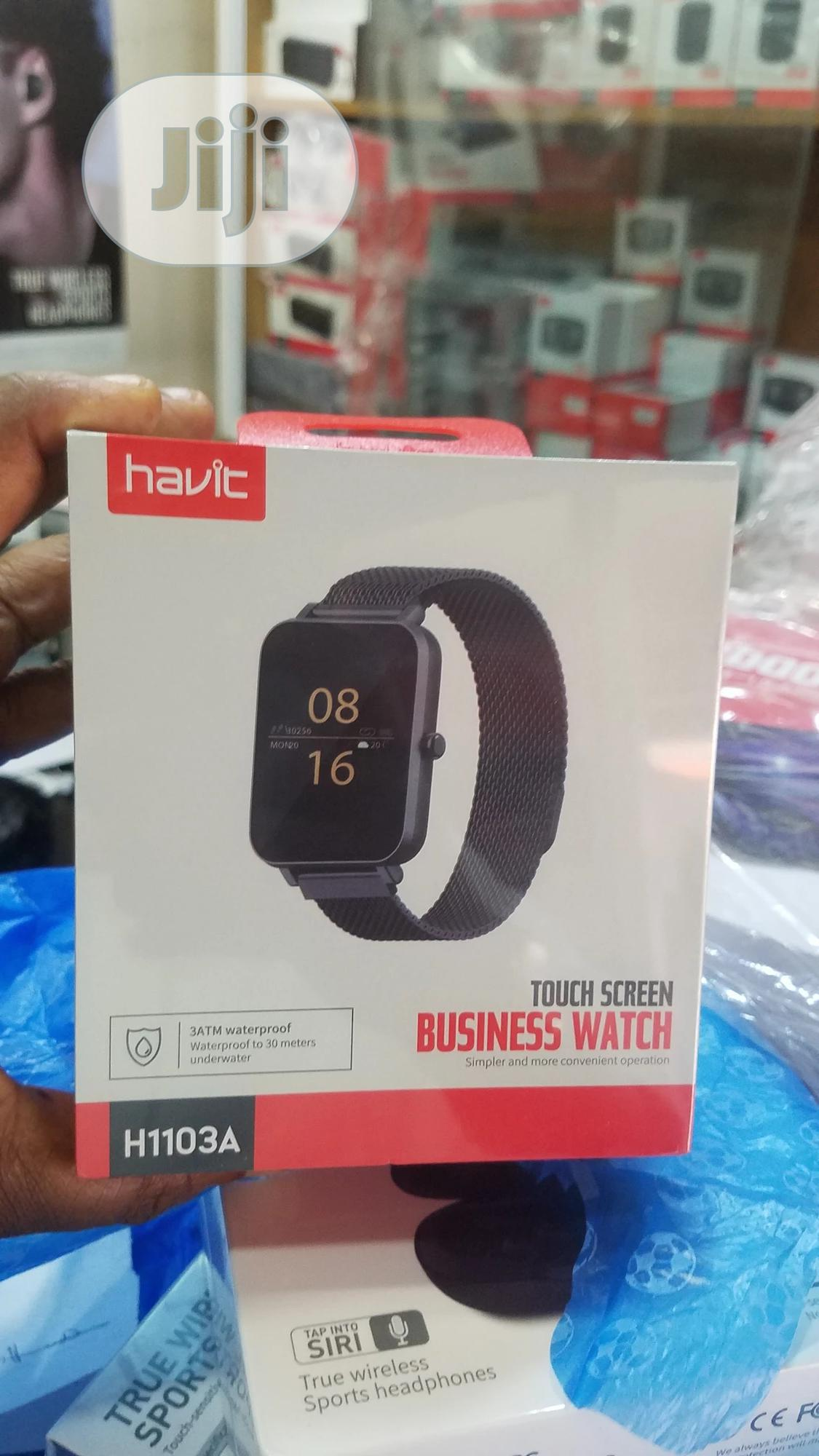 Havit Touchscreen Business Watch | Smart Watches & Trackers for sale in Ikeja, Lagos State, Nigeria