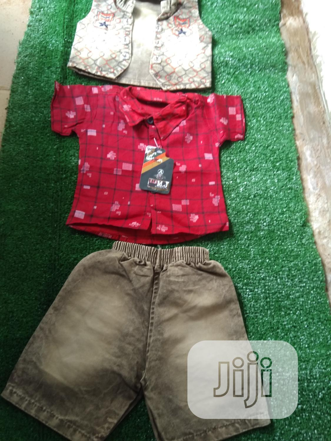 Cute For Shirt With Jacket And Short   Children's Clothing for sale in Wuse 2, Abuja (FCT) State, Nigeria