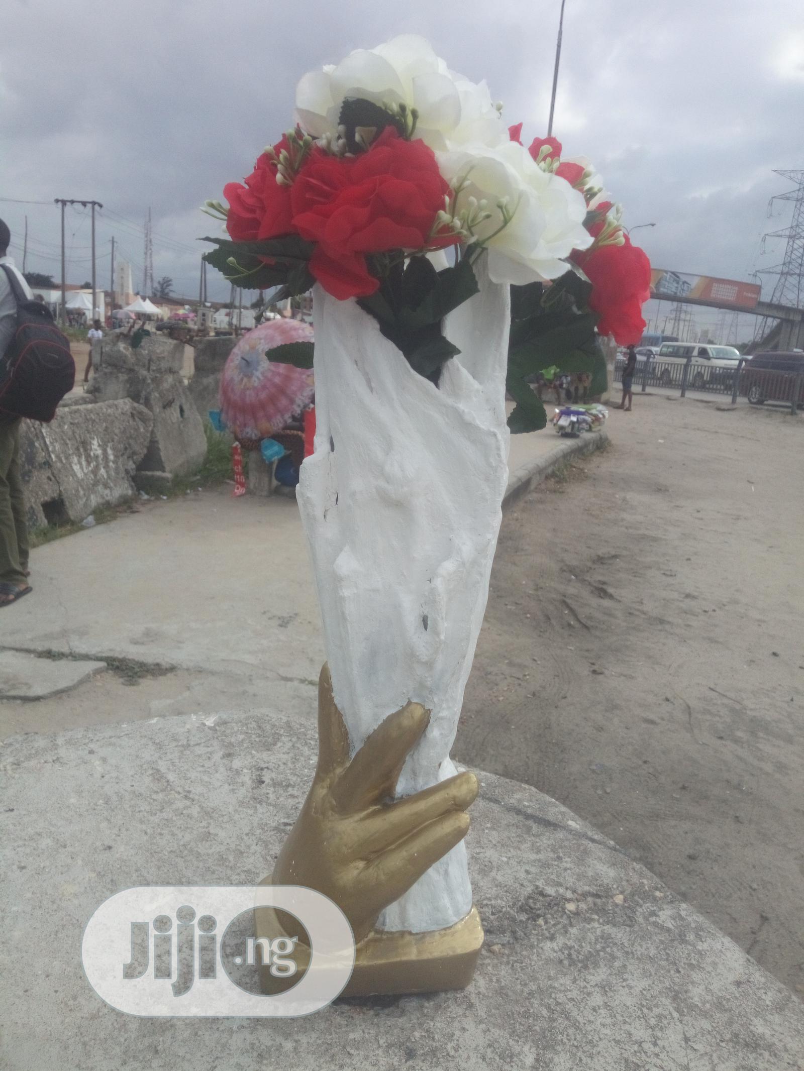 Handmade Decorative Flower Vase | Home Accessories for sale in Ikeja, Lagos State, Nigeria