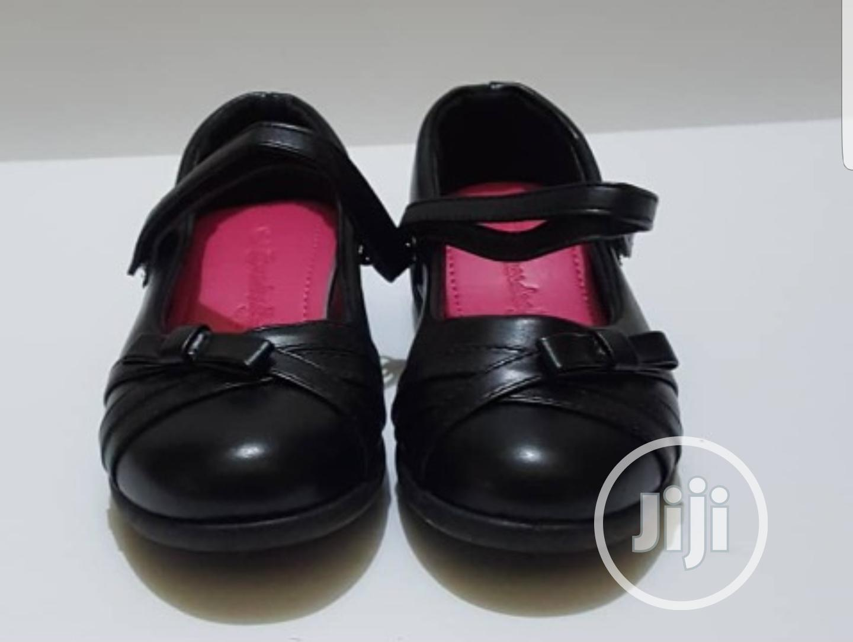 Girls Black School/ Flat Shoes
