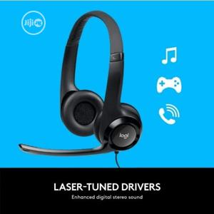 Logitech USB Headset H390 With Noise Cancelling Mic | Headphones for sale in Lagos State, Lagos Island (Eko)