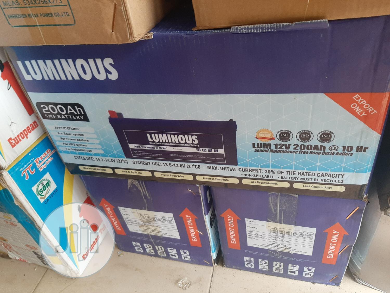 12V 200ah Luminous Solar Battery | Solar Energy for sale in Ojo, Lagos State, Nigeria