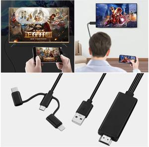 3 In 1 HDTV Cable For iPhone iPad USB C USB Power Adapter   Accessories & Supplies for Electronics for sale in Lagos State, Ojo