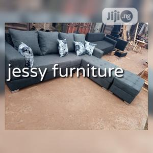 New Set of L-Shaped Fabric Sofa With an Ottoman | Furniture for sale in Lagos State, Ikotun/Igando