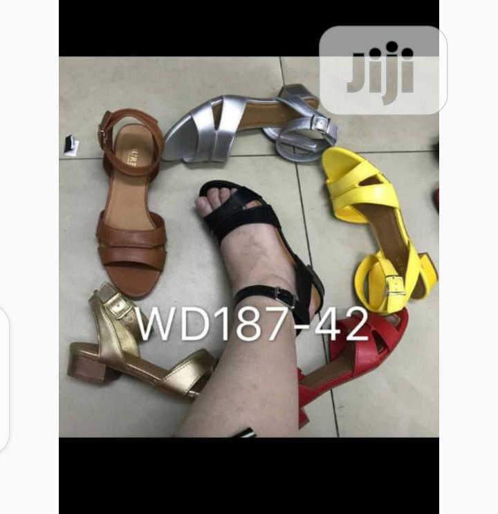 New Quality Female Leather Sandal Shoes | Shoes for sale in Isolo, Lagos State, Nigeria
