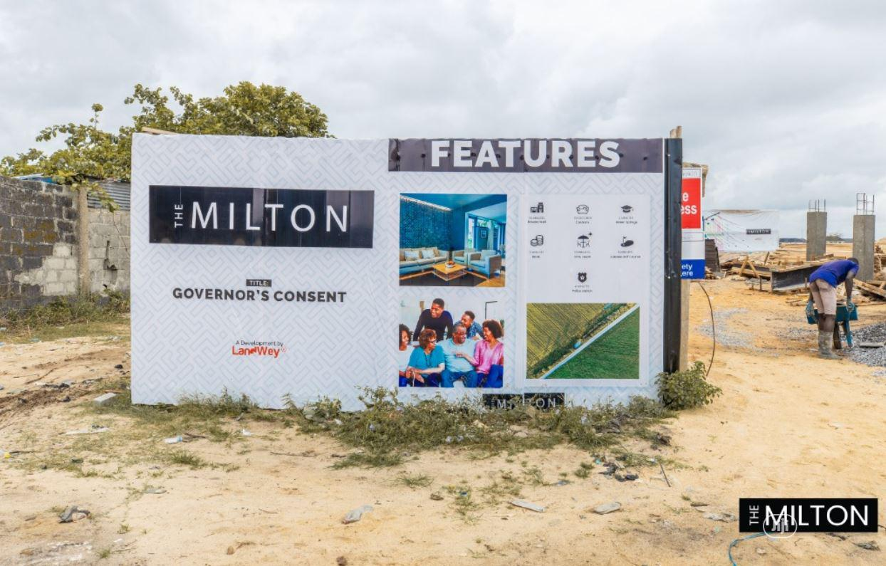 Land For Sale At The Milton Estate at Awoyaya,Lagos With Governors Consent