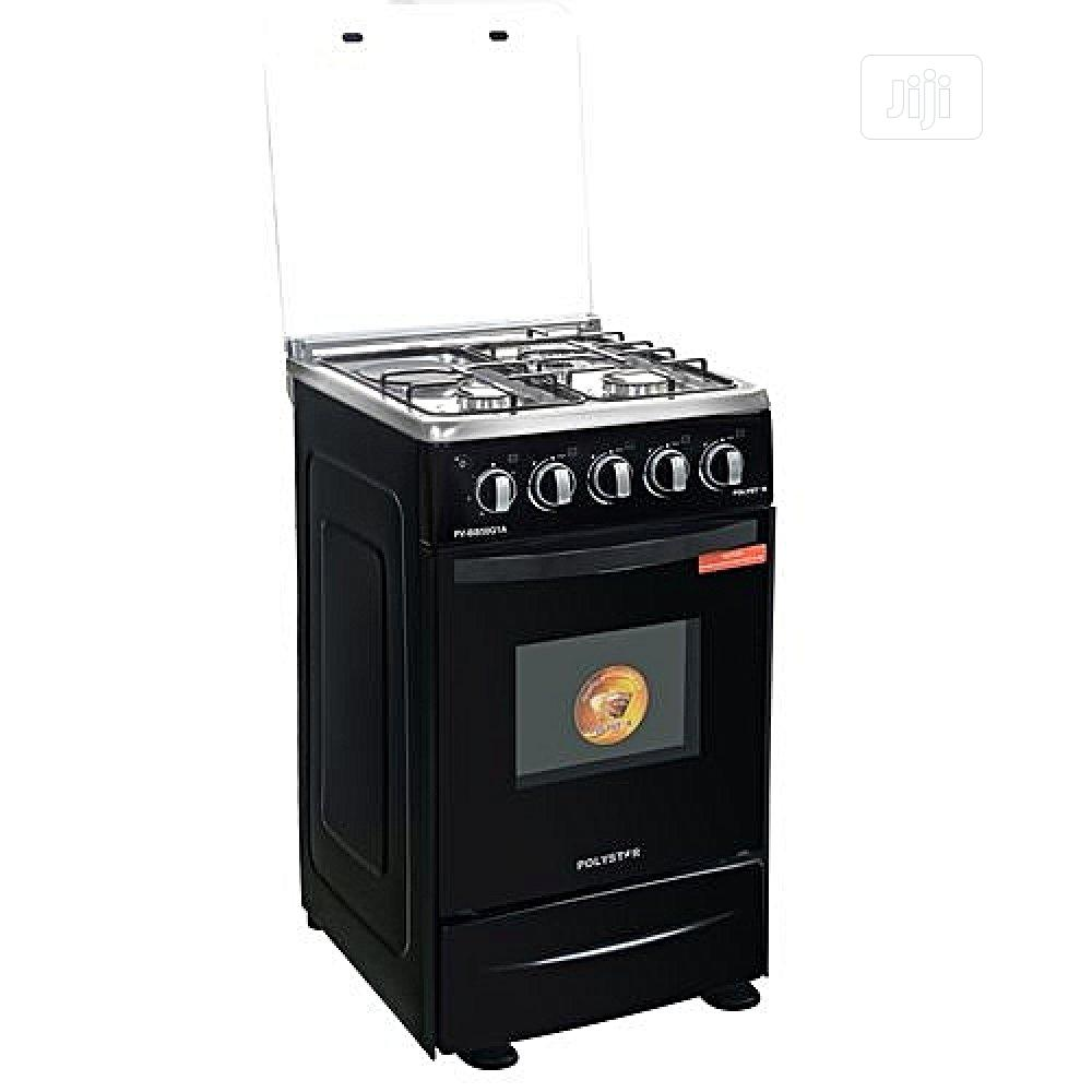 3X1 Burner, Oven and Grill Black Gas Cooker (Pv-Bb50g1a) J12