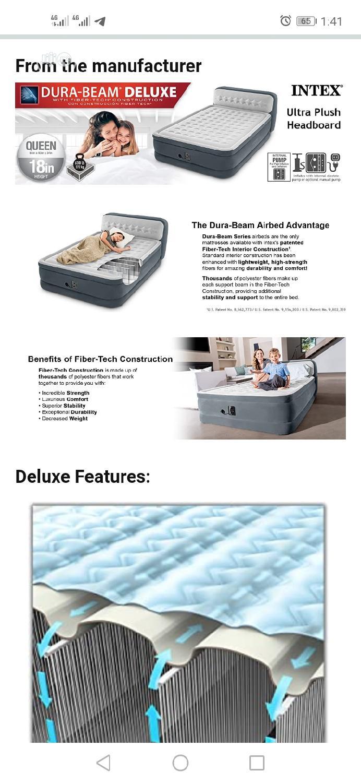 Intex Ultra Dura Beam Airbed Built In Pump With Headboard   Furniture for sale in Ikorodu, Lagos State, Nigeria