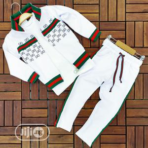 Kids Gucci Designer 3pcs Set (Turkey Brand) | Children's Clothing for sale in Lagos State, Ikorodu