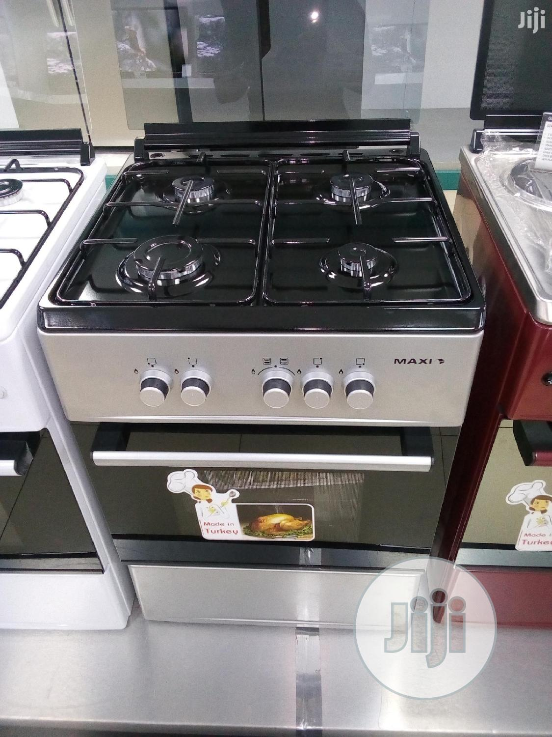 Brand New MAXI 50x50 All Gas Cooker/Silver/With Oven Grill
