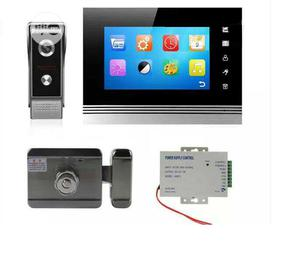 Automatic Door Lock With 7inchs TFT Monitor And Magnetic Lock | Doors for sale in Lagos State, Ojota