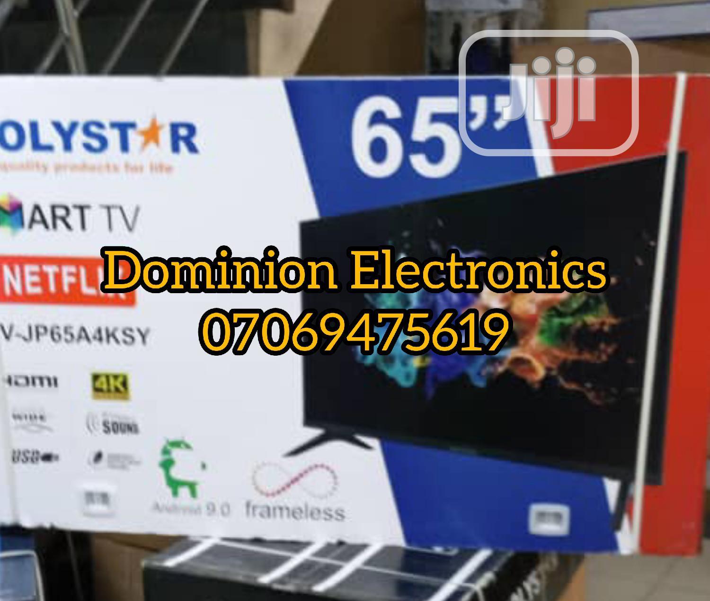 "New Polystar UHD Smart 4K Wifi 65"" (Netflix) Free Bracket   TV & DVD Equipment for sale in Ojo, Lagos State, Nigeria"