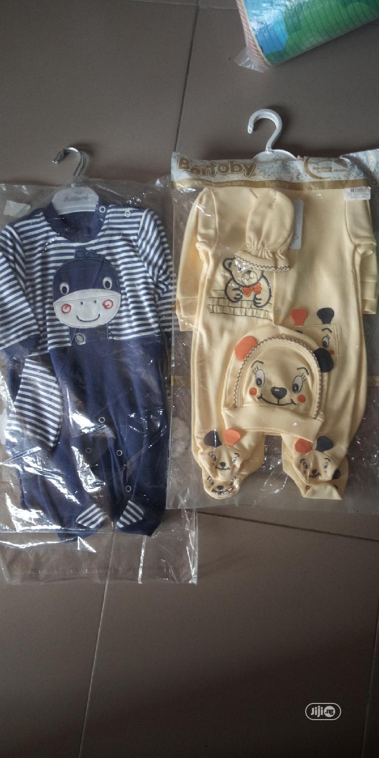 Turkey 2 Piece Cloth And Overalls With Cap | Children's Clothing for sale in Kubwa, Abuja (FCT) State, Nigeria
