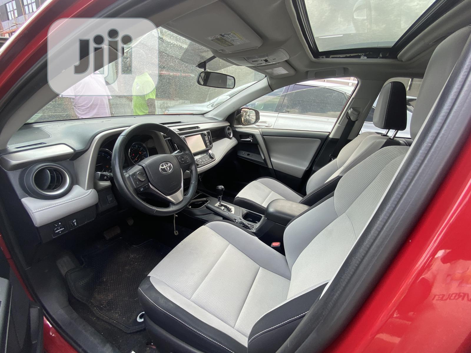 Toyota RAV4 2016 XLE AWD (2.5L 4cyl 6A) Red | Cars for sale in Ikeja, Lagos State, Nigeria