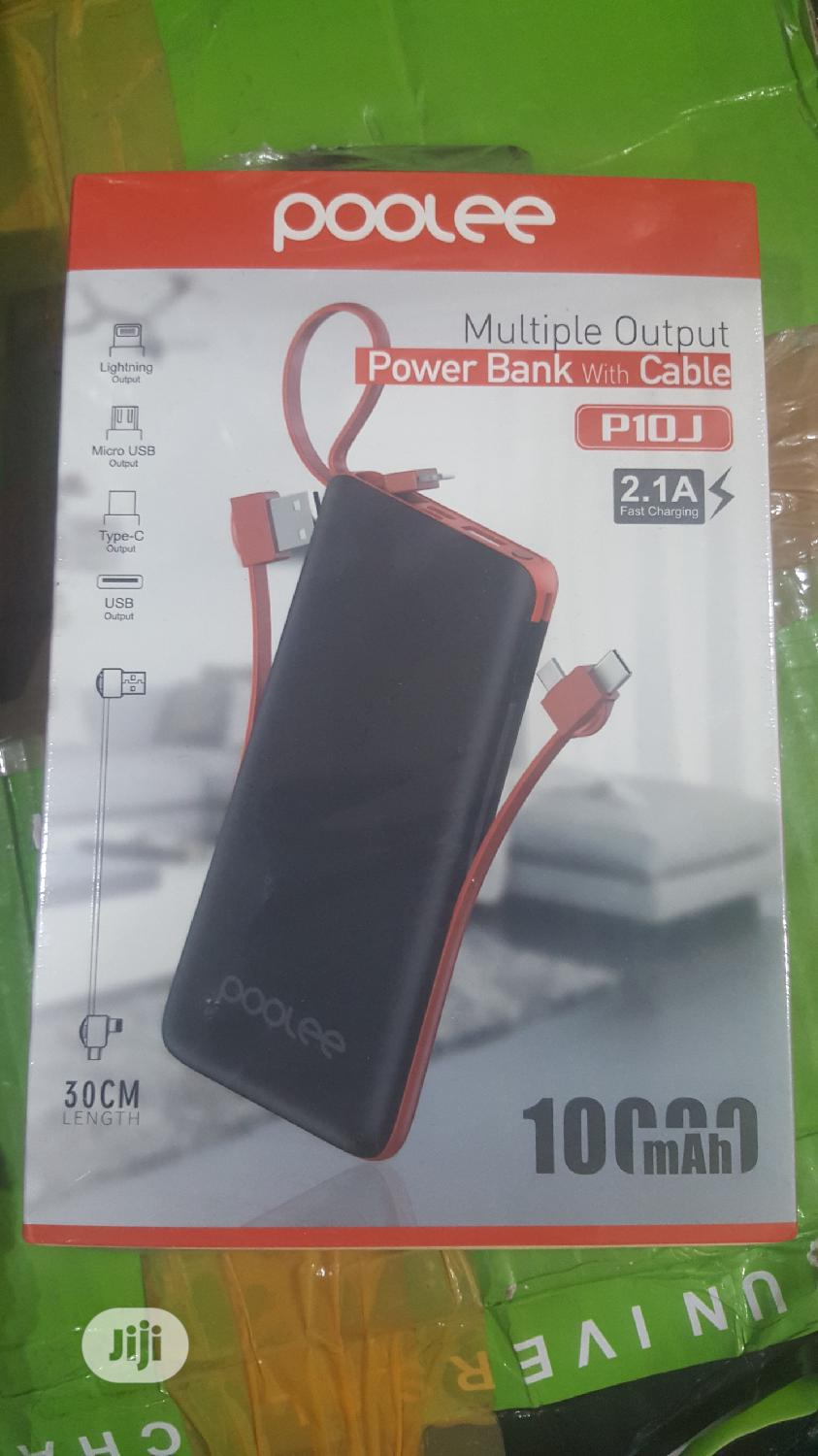 10,000mah Powerbank With Multiple Output (POOLEE)