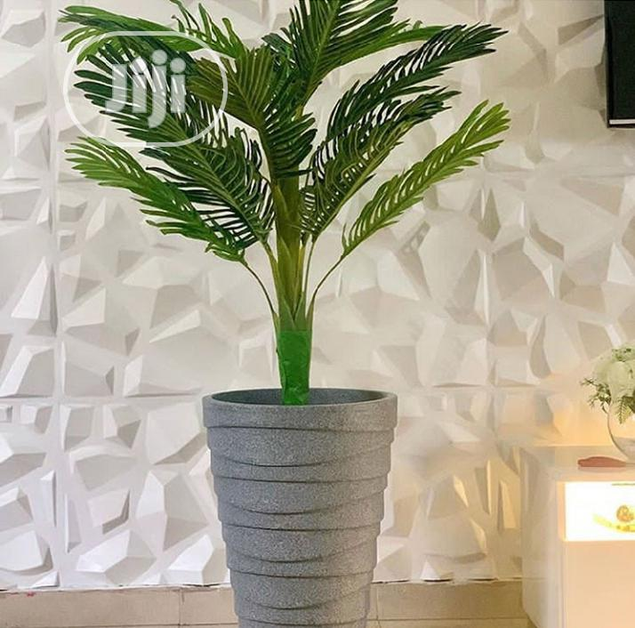 Flower Pot With Artificial Palm Tree Flower
