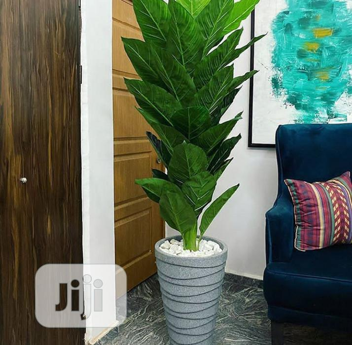 Flower Pot With Artificial Palm Tree Flower | Home Accessories for sale in Ikeja, Lagos State, Nigeria