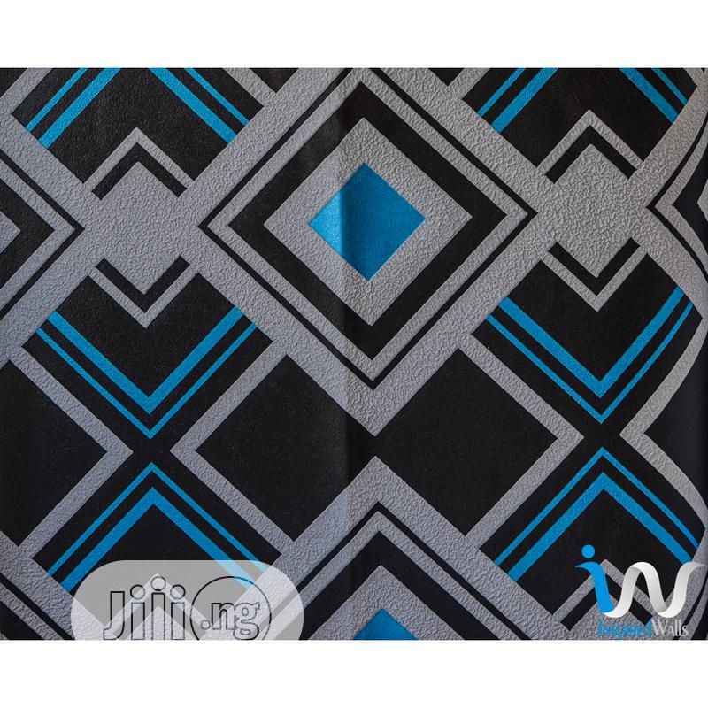 Archive: Baby Blue Geometric Modern Wallpaper
