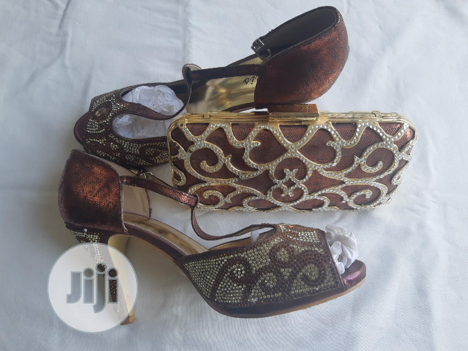 Exquis Brown And Cream Designer Bag And