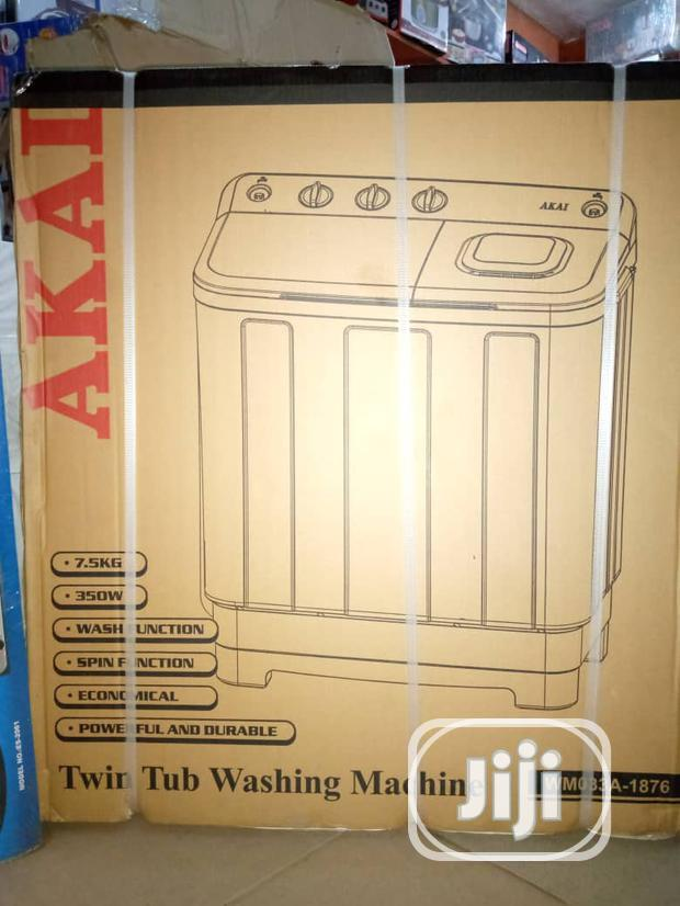Akai 7.5kg Twin Tub Washing Machine | Home Appliances for sale in Lagos Island (Eko), Lagos State, Nigeria