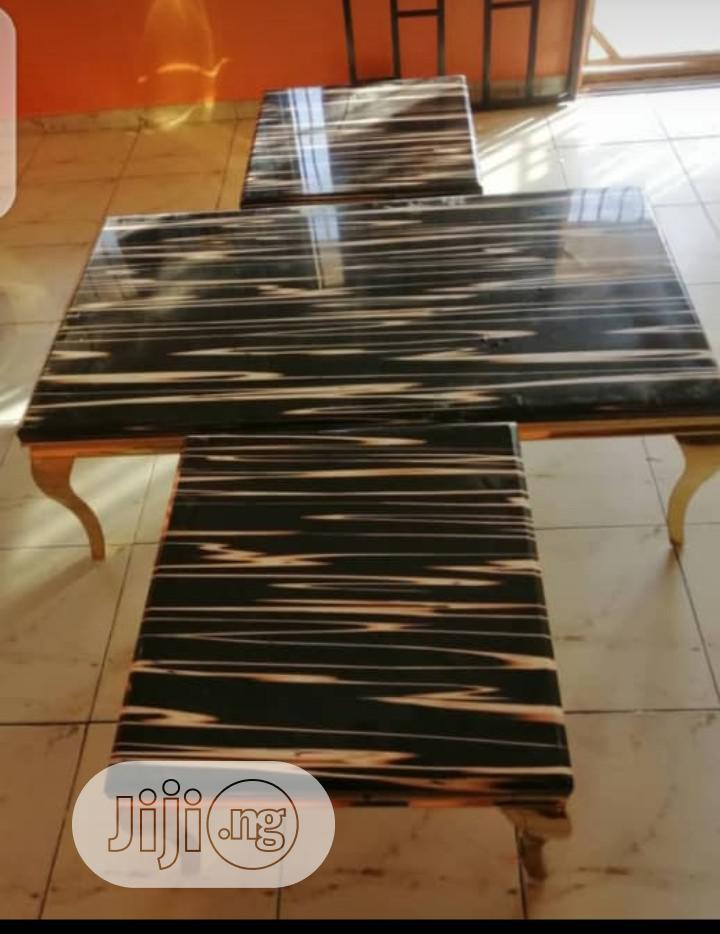 Imported Marble Center Table With Two Side Stool