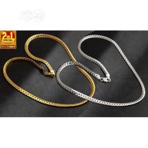 Classy 2in1 Silver and Gold Plated Necklace Set   Jewelry for sale in Lagos State, Ikeja