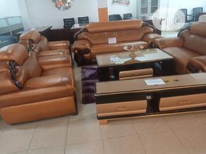 Classic Italian Leather Sofa   Furniture for sale in Lagos State, Ikeja