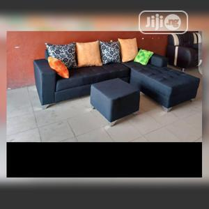 New Set of L-Shaped Fabric Sofa With an Ottoman | Furniture for sale in Lagos State, Abule Egba