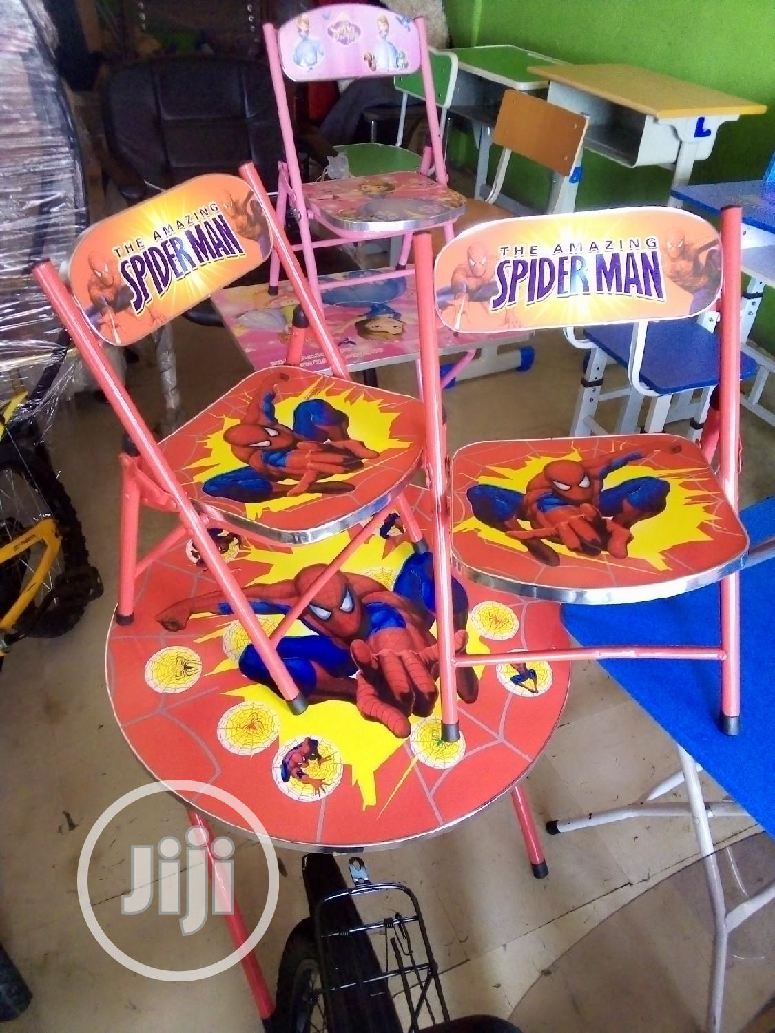 Archive: Unique Set Of Foldable Kid's/Infant Table With 2 Chairs