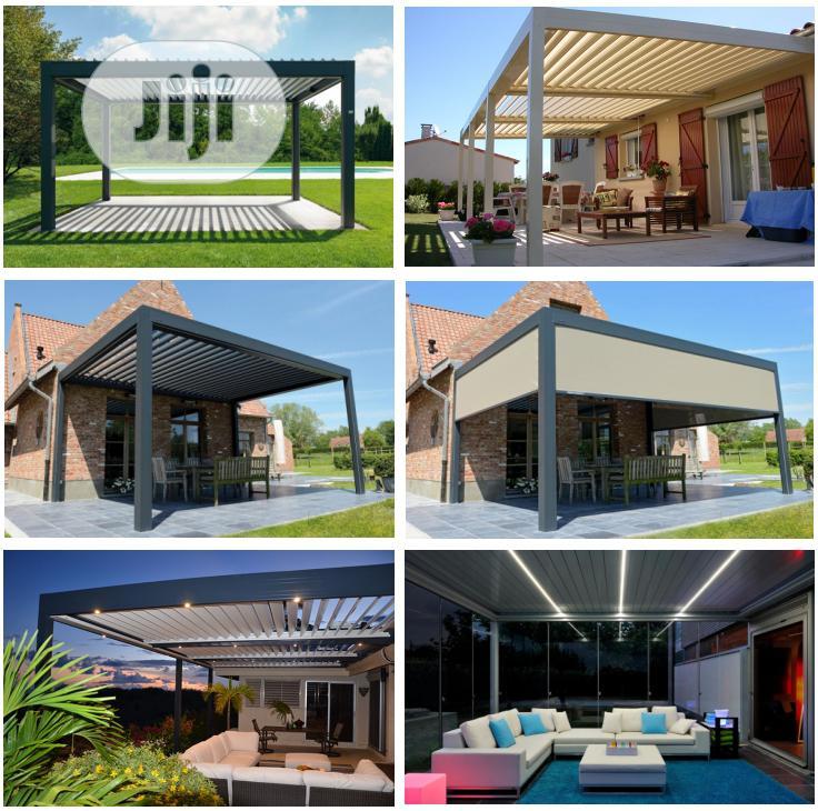 Archive: Modern Design Luxury Aluminium Motorized Louvre Roof Pergola