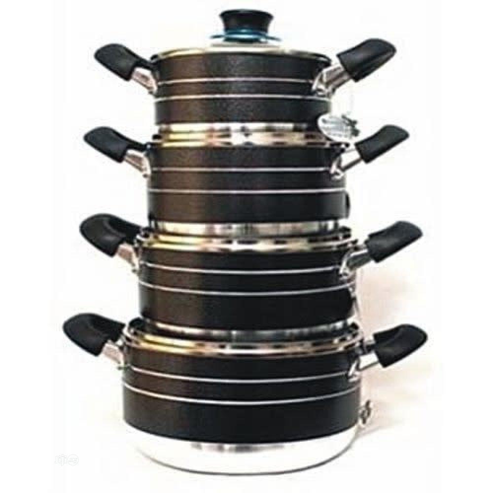 4PCS Aluminium Non-Stick Cookware Set - Kinelco D111
