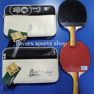 Malin 5 Star Table Tennis Racket Horizontal Straight Grip | Sports Equipment for sale in Rivers State, Port-Harcourt