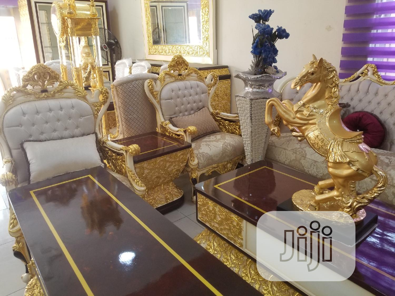 Royal Turkish Sofa Chair With The Full Set Available Now | Furniture for sale in Ajah, Lagos State, Nigeria