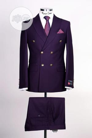 Purple Double Breasted Suit   Clothing for sale in Lagos State, Lagos Island (Eko)