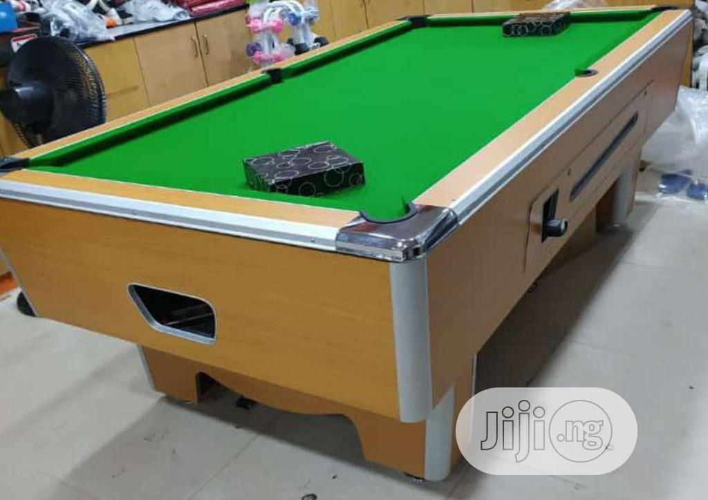 8 Feet by 4 Feet Marble Coin Operated Snooker Pool Table